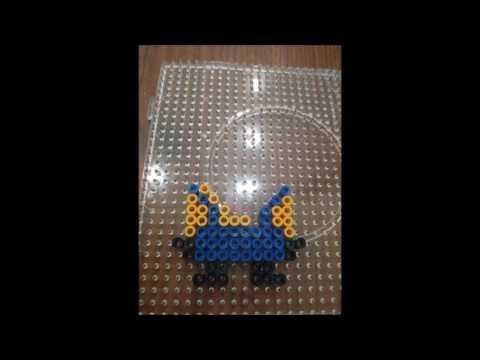 Make minion using perler beads