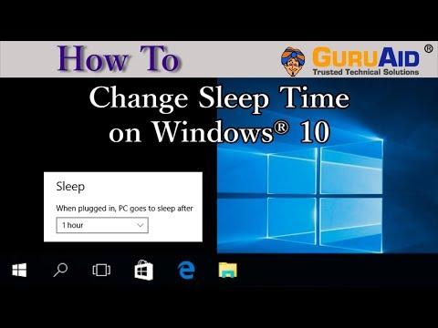 How to Change Sleep Time on Windows 10 - GuruAid