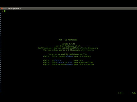 VIM- Editor de textos Linux - Comandos essenciais 2015