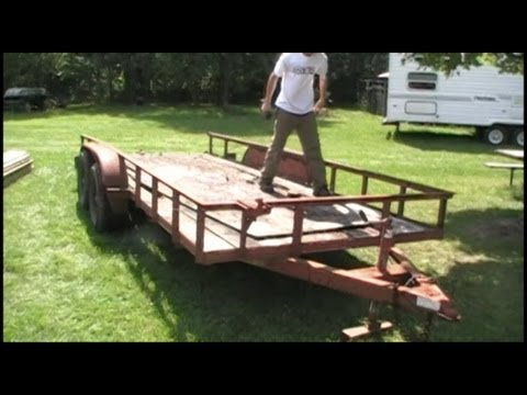 16 Foot Trailer Rehab Project Part 1 Deck Removal