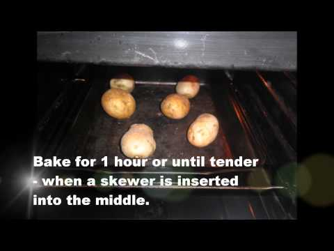 Jacket potatoes with tuna
