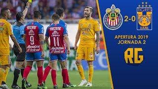 Chivas vs Tigres 2-0 RESUMEN Jornada 2 Apertura 2019 Liga Mx HD