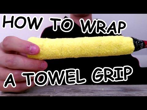 How to wrap a Badminton Towel Grip