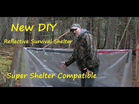 NEW DIY Reflective Survival Tarp Shelter/SUPER SHELTER COMPATIBLE