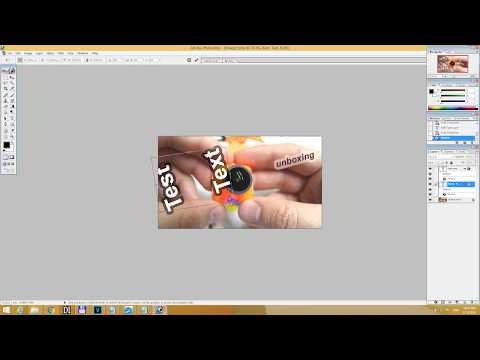 How to Rotate Text in Photoshop 7 -19