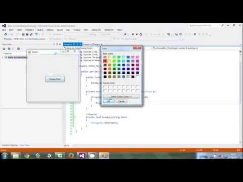 Beginner C# : How to use ColorDialog video