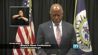 07/02/20 Mayor John Cooper News Conference