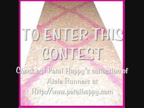 Wedding Decoration - Petal Aisle Runner Contest Giveaway