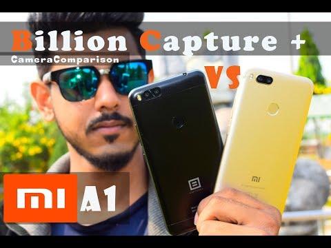 Mi A1 vs Billion Capture +    # Camera Comparison   #full depth camera comparison # Video comparison
