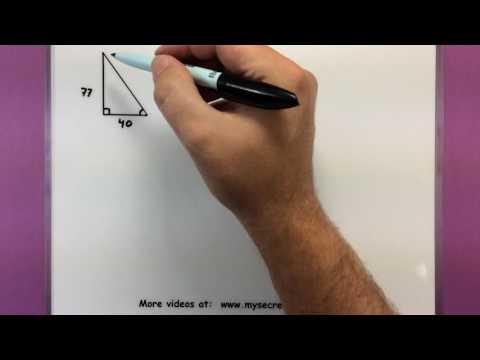 Trigonometry - Solving a right triangle