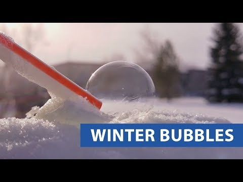 Bubble Freezes In Cold Weather