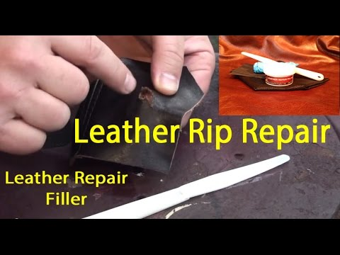 LEATHER REPAIR FILLER | Leather TEAR Repair | HOW TO fix a tear in leather