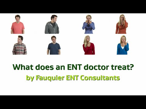 What Does an ENT Doctor Treat?