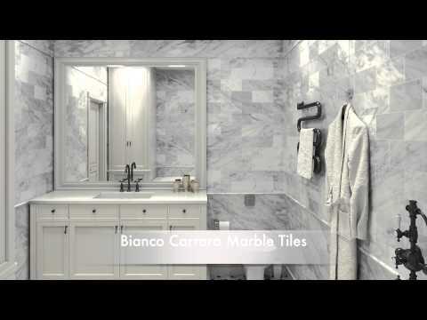 Bathroom Tile Ideas White Carrara Marble Tiles and Calacatta Gold Marble Tiles
