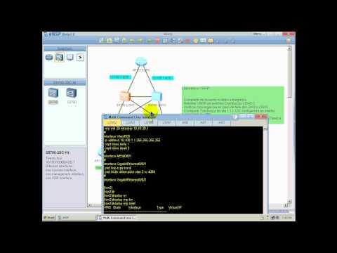Preview Lab VRRP using eNSP Huawei Simulator