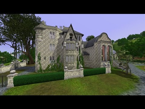 The Sims 3.Gothic house. New house of a family Goth.