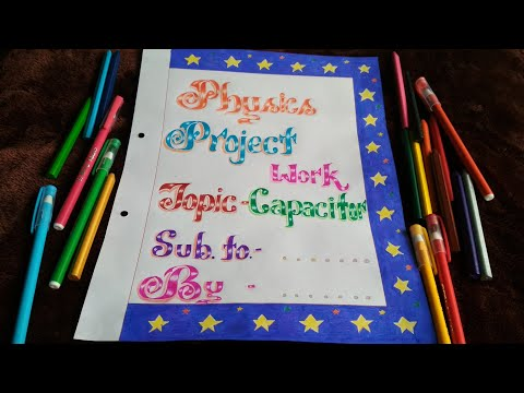How to Decorate Project files with Cover page and Border || Cover page Decoration - 3