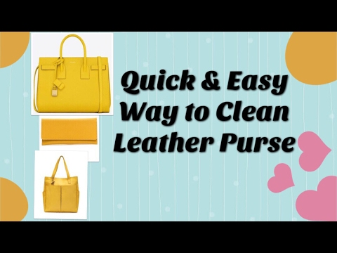 How to clean leather bag at home/ लेधर पर्स को घर पर कैसे साफ़ करे/ DIY Leather Bag Cleaning