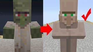 How To Cure A Zombie Villager Minecraft Tutorial