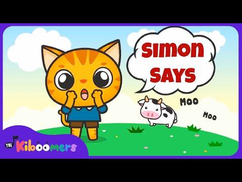 Simon Says | Music Game for Kids | Simon Says Song | Simon Says for Kids | The Kiboomers