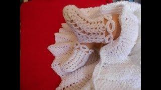 Zapatos A Crochet Para Bautizo