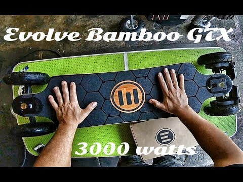 Evolve Bamboo GTX 3000 Watt electric Longboard // Unboxing & Riding