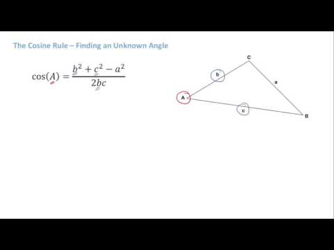 IB Math Studies - Cosine Rule - Finding Unkown Angles