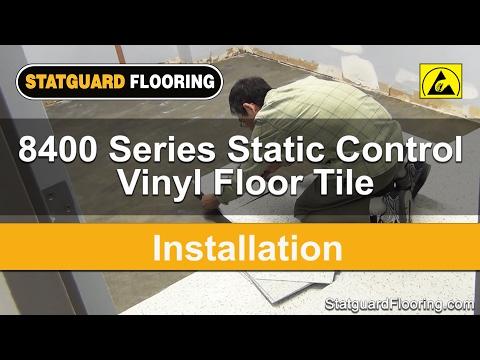 Static Control Vinyl Floor Tile Installation - Statguard® Flooring -  8400 Series Tile