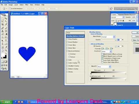 Create a heart shape in photoshop