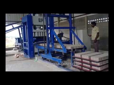 Fly ash brick making machine 15 bricks with  Stacker system manufacturers in Coimbatore