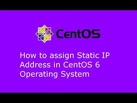 How to assign Static IP Address in CentOS 6.9