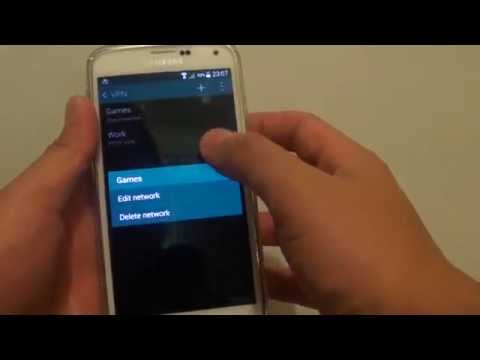Samsung Galaxy S5: How to Remove VPN Network Connection