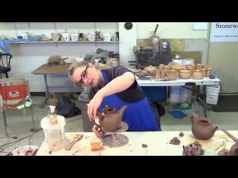 Fitting Spout and Handle - How to Make a Pottery Teapot - Part 5