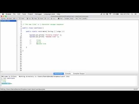 7. The new line( \n ) character / escape sequence - Learn Java
