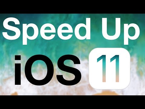How to speed up iOS 11! (iPhone, iPad & iPod!)