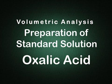 Volumetric Analysis Preparation of OXALIC ACID Experiment Edunovus Online Smart Practicals