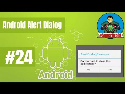 #24 Android Tutorial AlertDialog- دورة تعلم الاندرويد ستوديو
