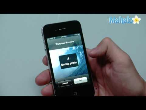 How to change wallpaper on iPhone 4