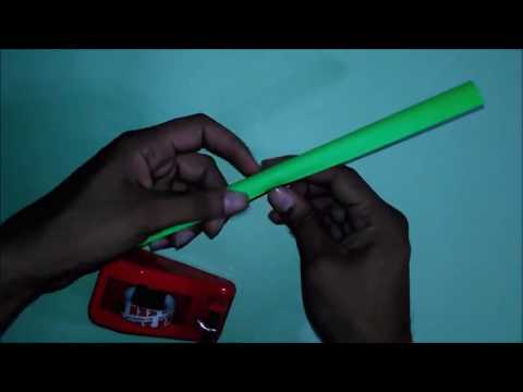 How to make a paper Blowgun & Darts or Airgun   Easy Tutorial