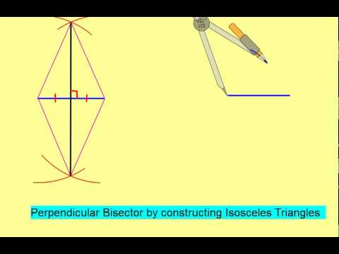 Constructing a Perpendicular Bisector with Isosceles Triangles.mp4