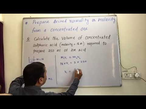(Xl Practical) Prepare solution of desire normality or molarity