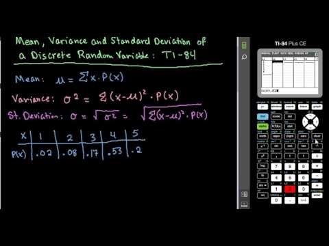 Mean, Variance, and Standard Deviation of Discrete Random Variable-TI-84