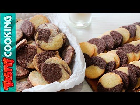 MARBLE COOKIES Recipe ♥ Vanilla Chocolate Cookies 2 Ways ♥ Tasty Cooking