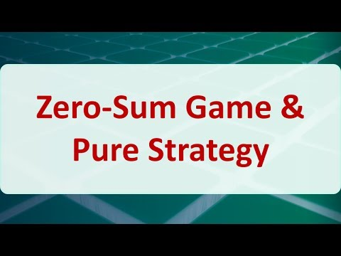 Operations Research 12A: Zero-Sum Game & Pure Strategy