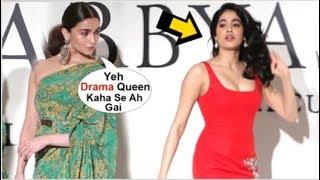 Alia Bhatt IGNORES Jhanvi Kapoor For Showing Attitude At Sabyasachi Label 20 Years Celebration