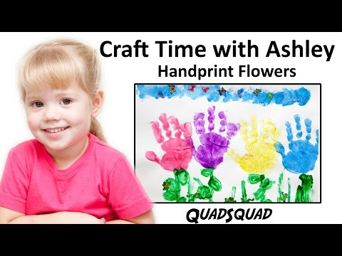 Paint Spring Flowers with Handprints - Craft Time with Ashley