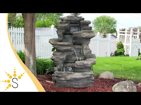 Stacked Shale Outdoor Water Fountain - #DW-96023