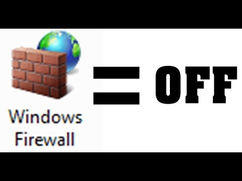 HOW TO: Turn OFF Windows FIREWALL Completely! - Win 8 & 7
