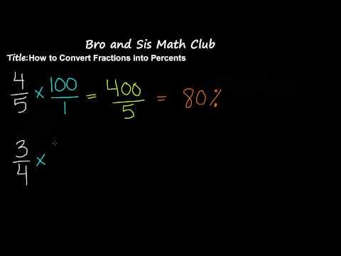 Convert Fractions into Percents - 7th Grade Math