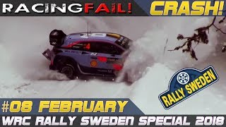 Rally Sweden 2018 Special incl. Crash Compilation Week 8 February | RACINGFAIL